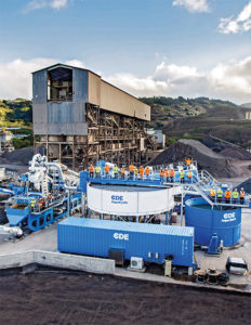 Hawaiian Cement incorporated several wet processing solutions from CDE at its concrete and aggregate operation on Oahu. Photo courtesy of CDE