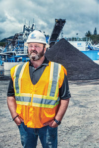Hawaiian Cement's Sean Haggerty did not want an off-the-shelf wet processing solution. To him, it was critical that his company team with a partner who understood Hawaiian Cement's goals. Photo courtesy of CDE