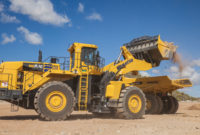 Komatsu's WA900-8 features a Tier 4 Final engine that outputs a net horsepower of 899 hp. Photo courtesy of Komatsu