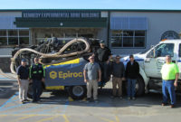 Epiroc donated a FlexiROC T20 drill rig and consumables for the Experimental Mine at the Missouri School of Science & Technology. Photo courtesy of Epiroc.