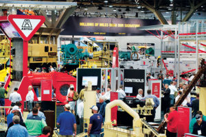 Exhibits will again be set up both indoors and outdoors at the Las Vegas Convention Center. Photo courtesy of ConExpo-Con/Agg