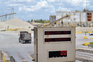 Cemex's FEC Quarry produces about 8 million tpy of crushed stone. Photo by Zach Mentz