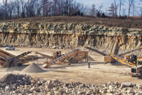 With its IRock portable crushing and screening plants, Magruder Limestone can detonate a new area of a quarry and then maneuver the equipment back in – all in about a half hour. Photo courtesy of Ironclad Marketing