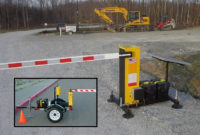 Battery Operated Barriers' safety gates can be deployed for short- or long-term security. Photo courtesy of Battery Operated Barriers.