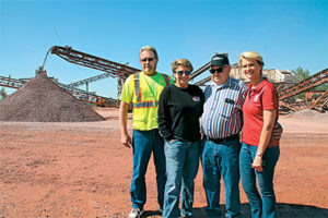 Providing a family atmosphere at work is very important to the owners of Myrl & Roy's Paving. Pictured from left are production manager Rick Peterson, Sue Unzelman, Myrl Unzelman and Patty Unzelman Nohr. Photo courtesy of Myrl & Roy's Paving