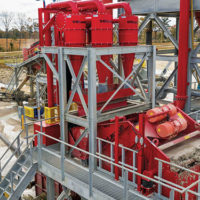 An Ultra Sand Plant, Hydrosizer and Separators are now in the plant arsenal at River Aggregates' site in Cleveland, Texas. Photo courtesy of McLanahan