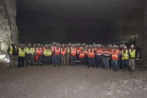 Those who attended the 2019 Mining Academy had the opportunity to visit a Rogers Group underground facility. Photo courtesy of Dyno Nobel