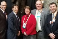 Rep. Troy Balderson (R-Ohio), second from left, visits with members of the Ohio delegation during the 2019 NSSGA Legislative & Policy Forum. Photo courtesy of Kevin Yanik