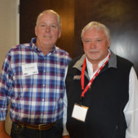 Vulcan Materials' Don Kraupa, left, with Sauls Seismic's Jeff Taylor. Photo by Kevin Yanik