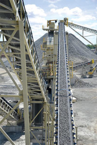 Aggregate production continued on an upward path in the first two quarters of the year. Photo by Kevin Yanik