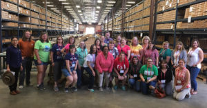 Texas science teachers enjoy a tour of the Austin Core Research Center at the Bureau of Economic Geology during a TMRA Teacher Workshop. The award-winning educational workshops are offered each summer covering lignite, uranium and industrial minerals mining. Photo courtesy of TACA