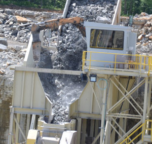 Large material and debris can jam inside the crusher, damaging components and causing costly downtime. Photo by Kevin Yanik