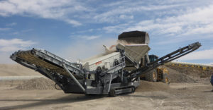 Metso, whose Lokotrack ST2.8 scalping screen is seen here in action, sees the acquisition of McCloskey as an opportunity to bolster the Metso screening line. Photo courtesy of Metso