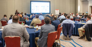 Dana Wuesthoff offered a preview of ConExpo-Con/Agg at the 2020 Pit & Quarry Roundtable & Conference. The Roundtable was held Jan. 14-15 in Bonita Springs, Florida. Photo by PamElla Lee Photography