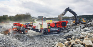 The UJ440i is fitted with the Sandvik CJ412 jaw. Photo courtesy of Sandvik Mining & Rock Technology