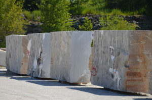 Phenix Marble sizes blocks down enough so they are movable. Photo: P&Q Staff