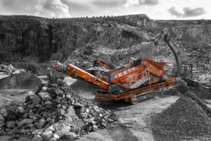 The 883+ screener is ideal for a variety of applications, including quarrying and recycling. Photo courtesy of Terex Finlay