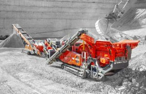 The I-120RS impact crusher incorporates the Terex CR038 impact chamber with direct drive. Photo courtesy of Terex Finlay