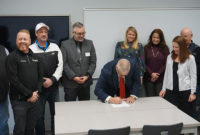 Butler Tech signed an agreement to launch MACC Tech to provide training to students in mining, asphalt, concrete and construction technology. Photo courtesy of Butler Tech