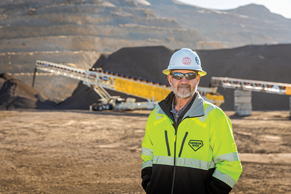 Ed Clayson, aggregates production manager at Geneva Rock, has more than 45 years of industry experience. Photo: Superior Industries