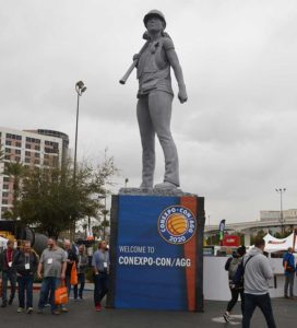 The statue is mounted on a 10-ft. base and stands an additional 19 ft. (Photo: P&Q Staff)