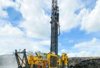 According to Epiroc, the DM30 II SP offers faster hole-to-hole drilling and a lower cost per ton through single-pass capability. Photo courtesy of Epiroc