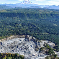 An aerial view of Washington Rock Quarries' Kapowsin Quarry. Photo: Jonathan Hart