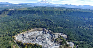 An aerial view of Washington Rock Quarries' Kapowsin Quarry. Photo: Jonathan Hart
