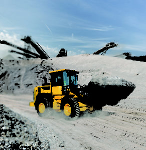 The HL930A XT model has an operating weight of 25,135 pounds and a standard bucket capacity of 2.5 yd cu. yd. Photo: Hyundai Construction Equipment Americas