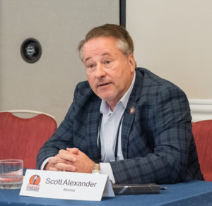 Arcosa's Scott Alexander, a regular attendee of the Pit & Quarry Roundtable & Conference, discussed how the aggregate industry has benefited tremendously in recent years from the oil and gas sector's growth. Photo: PamElla Lee Photography