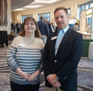 Linda Moore, left, and Jeff Wansley have been working together at GCAA since 2015. Photo: P&Q Staff