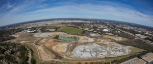 An aerial view of the Luck Stone Atlanta-Stephens Plant, which is situated near the Hartsfield Jackson Atlanta International Airport. Photo: Luck Companies