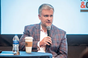 Michael Johnson, president and CEO of NSSGA, was among the speakers at the 2020 Pit & Quarry Roundtable & Conference. Photo: PamElla Lee Photography