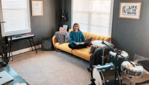 Allison Blong, P&Q's event manager, in her new workspace in Nashville, Tennessee. Photo: P&Q Staff