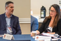 Kleemann's Evan Clarke, left, and Bond Construction Corp.'s Karen Hubacz-Kiley participated in the 2020 Pit & Quarry Roundtable & Conference. Photos: PamElla Lee Photography