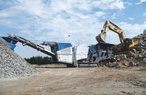 The Mobicat MC 120 Zi PRO is impressive in natural rock applications, according to Kleemann. Photo: Kleemann