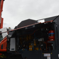 The new Leopard DI650i DTH drill rig at ConExpo-Con/Agg 2020. Photo: P&Q Staff