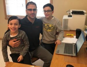P&Q associate publisher Dino Vitanza with his sons Vincent, right, and Santino. Photo: P&Q Staff