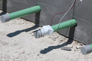 Concrete sensors are helping to more precisely determine when new concrete pavement is ready to handle heavy traffic. Photo: Purdue University/Erin Easterling