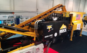 IRock's RDS-20E all-electric plant was on display at ConExpo-Con/Agg. Photo: P&Q Staff