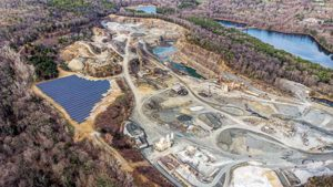 O&G Industries solar-powered quarry Photo: O&G Industries