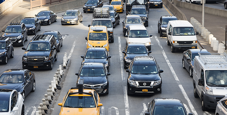 Sure, New York City traffic is horrible. But eliminating cars from New York City roads and expecting other U.S. cities to adopt the Big Apple's model is quite the stretch. Photo: Bim/iStock / Getty Images Plus/Getty Images