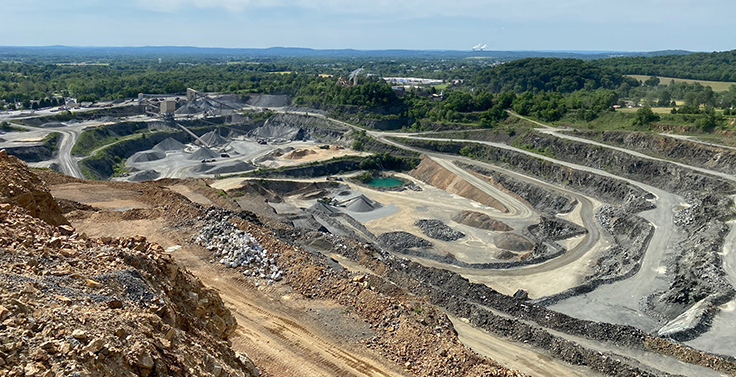 Martin Stone Quarries has been providing aggregate and infield mix material to southeastern Pennsylvania and surrounding states since 1953. Photo: Rod Martin