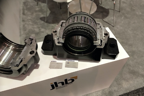 The JHB split bearing can accommodate axial and radial loads independently, Bowman says. Photo: Bowman International