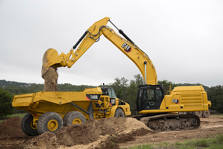 The Cat 349 excavator offers contractors up to 45 percent more operating efficiency. Photo: Cat