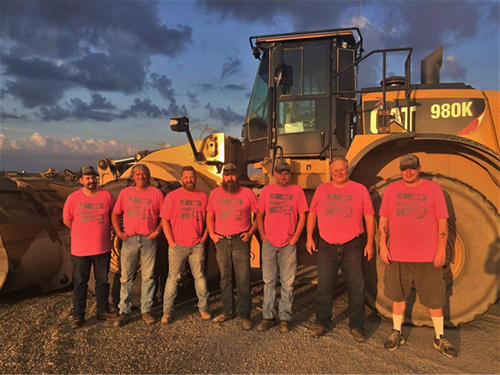 Mark Scott and the US Aggregates Crawfordsville (Indiana) crew. Photo: US Aggregates