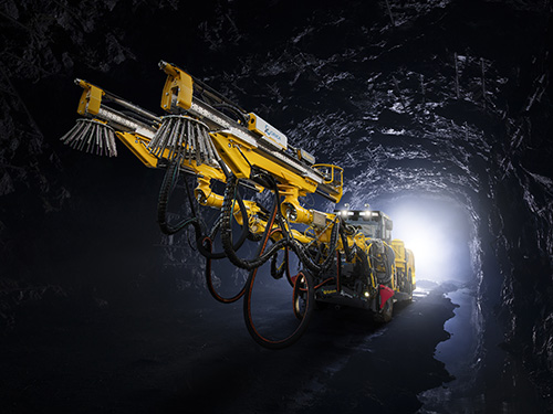 A front impression of a commercially ready Avatel unit in an underground mine. Photo: Epiroc