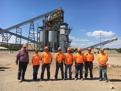 Mark Scott most recently served as plant manager at two US Aggregates sites, including the company's Thorntown Plant whose team is pictured here. Photo: US Aggregates