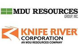 Logos: MDU Resources, Knife River Corp.