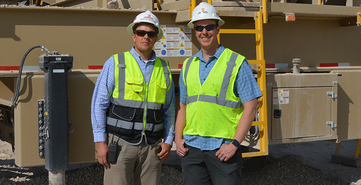 From left: Bridger and Boone Bolinder represent the third generation of leadership at Bolinder Resources, which has two fixed locations in Utah. Contract crushing is a big part of the Bolinders' business, as well, with a market focus in Utah and Nevada but a willingness to crush just about anywhere in the U.S. Photo: P&Q Staff